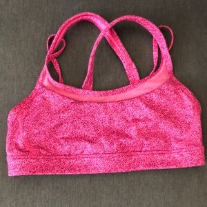 Lululemon Athletica 8 Get Down Bra Sports Bra Pink